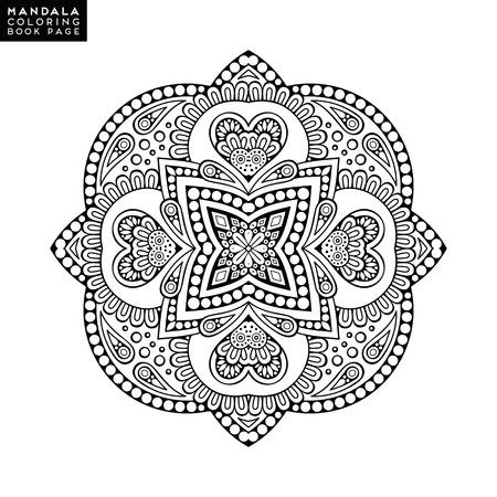 Vector mandala black background pattern ornament design