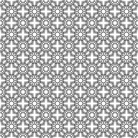 Vector mandala seamless pattern Stock Illustratie