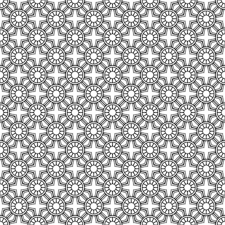 Vector mandala seamless pattern Иллюстрация