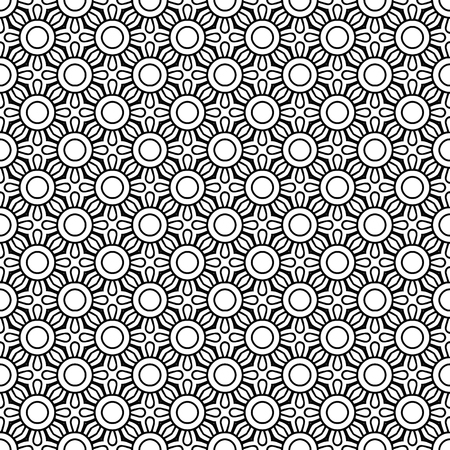Vector mandala seamless pattern Reklamní fotografie - 101501787