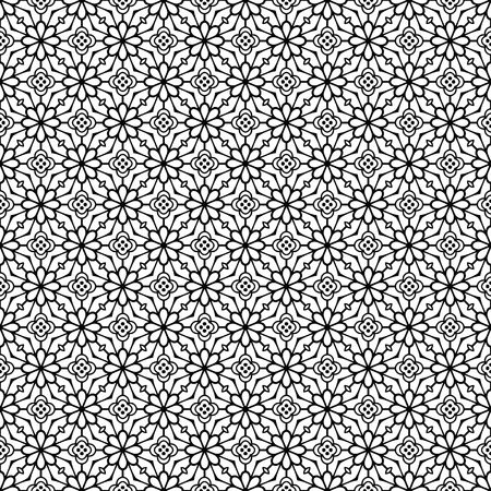 Vector mandala seamless pattern