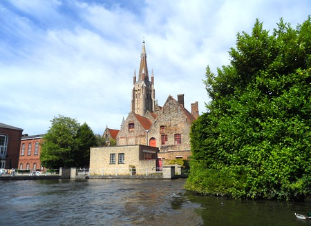 cruising: Cruising in the Canal of Bruges, Stock Photo