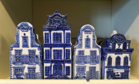 delftware: Typical Dutch Architecture in Blue and White Ceramic Objects