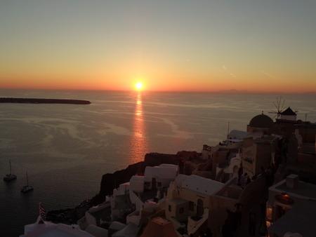unforgettable: Unforgettable Sunset View at Oia Village, Santorini Island of Greece