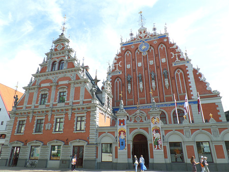 House of the Blackheads, Stunning Landmark of Riga, Latvia