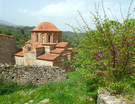 rebuilt: Byzantine Church in the Archaeological Site of Mystras, Greece, UNESCO World Heritage