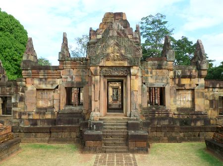 buriram: The Impressive Ancient Shrine in Prasat Hin Muang Tam Shrine Complex, Buriram Province, Thailand