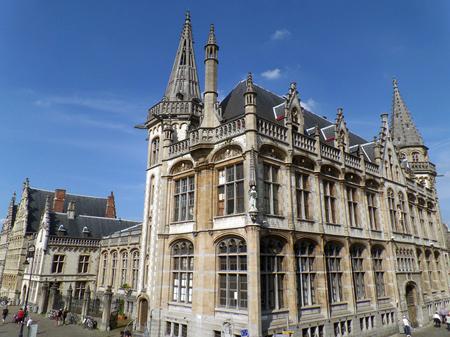 oficina antigua: Former Post Office, the Impressive Historic Building in Ghent, Belgium Foto de archivo