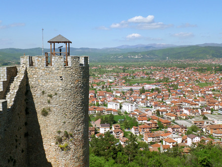 Cityscape of Ohrid as seen from Samuels Fortress, Ohrid in Republic of Macedonia