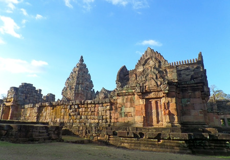 Prasat Hin Phanom Rung, the Well preserved Ancient Khmer Temple in Buriram Province of Thailand
