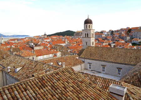 Old City of Dubrovnik with the Franciscan Church Bell Tower, Croatia
