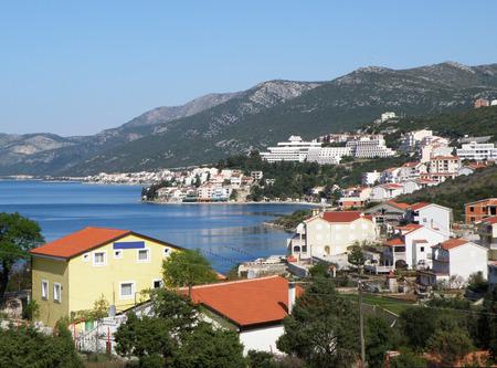 Beautiful Cityscape in Spring of Neum on the Adriatic coast, Bosnia and Herzegovina