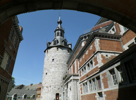 Belfry of Namur, impressive medieval tower in Namur province, Wallonia regeion, Belgium 免版税图像