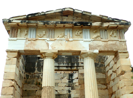 athenians: The Treasury of the Athenians, Archaeological Site of Delphi, UNESCO World Heritage Site in Greece