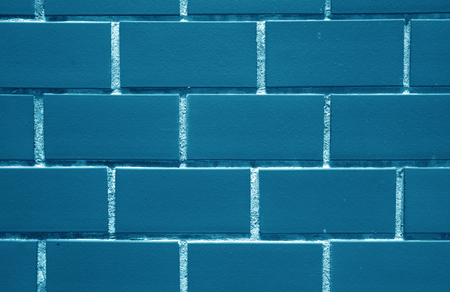 navy blue background: Indigo, Navy Blue Colored Bricks Wall, for Background, Texture, Pattern Stock Photo