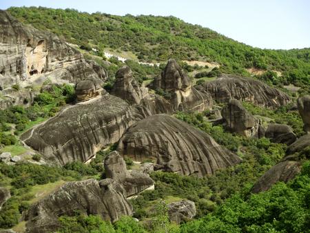 Incredible rock formations of Meteora, Greece