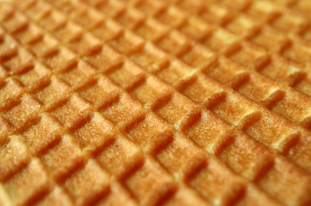 Closed up texture of Dutch traditional sweets, Stroopwafel with selective focus for background and banner