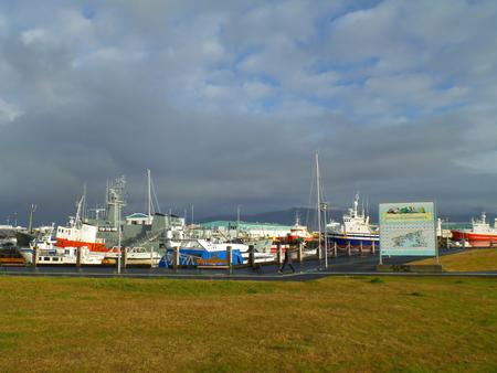 Reykjavik Old Harbor, the Famous Tourism Spot in Reykjavik, Iceland