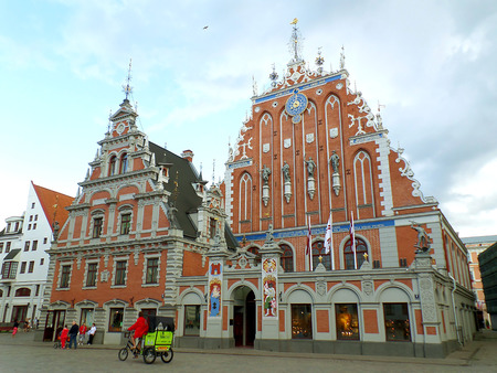 House of the Blackheads, in the Historical Center of Riga, Latvia Editorial