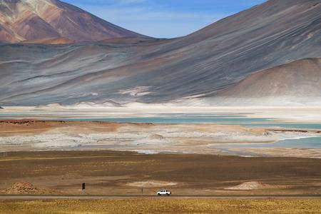 Salar de Talar salt flats at the foothills of majestic Cerro Medano, northern Chile Reklamní fotografie
