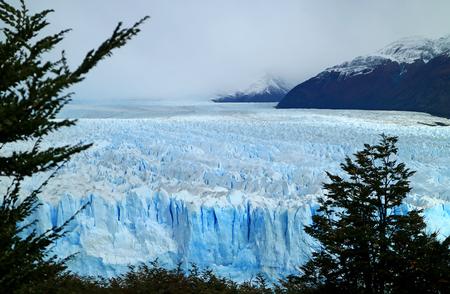 Breathtaking View of Perito Moreno Glacier in Los Glaciares National Park, Santa Cruz Province, Patagonia, Argentina Stock Photo
