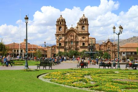 Beautiful Iglesia de la Compania de Jesus Church on the Plaza de Armas Square in Cusco, Peru, South America, 11th May 2018 Editorial