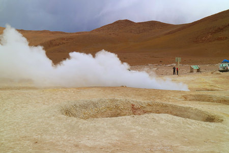 Sol de Manana or the Morning Sun Geothermal Area in Sur Lipez Province, Potosi Department of Bolivia, South America