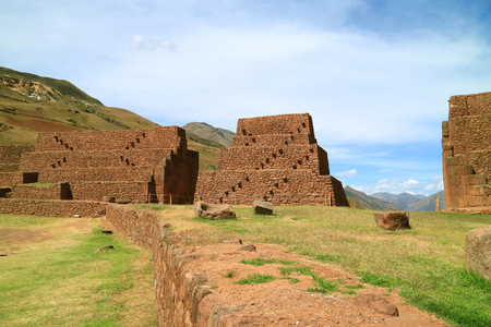 La Portada de Rumicolca, Ancient Gates and Aqueducts Near Lake Huacarpay, Archaeological site in Cusco Region, Quispicanchi Province, Peru, South America Stok Fotoğraf