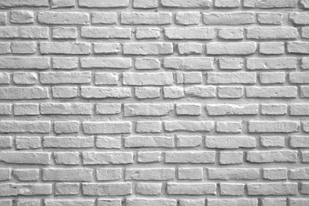 White Colored Brick Wall for Background or Banner Stok Fotoğraf