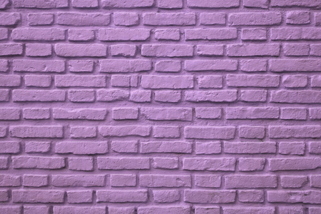 Purple Colored Old Brick Wall for Background or Banner