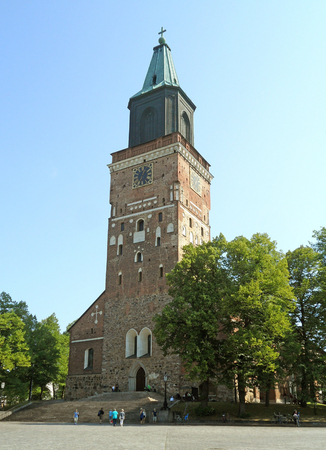 Turku Cathedral, the Mother Church of the Evangelical Lutheran Church of Finland in Turku, Finland, Europe Stock Photo