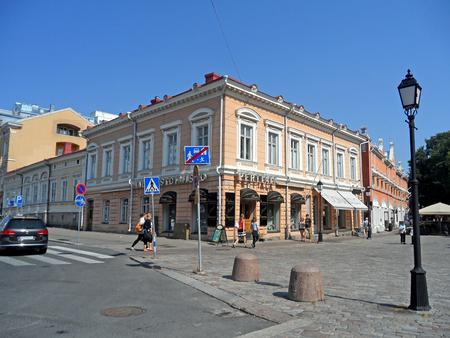Beautiful citycentre of Turku, the oldest city in Finland, Scandinavia, Europe Stock Photo - 124731741