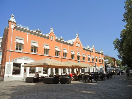 Stunning Northern European Style Buildings in Turku with many Visitors, Finland, Scandinavia, Europe Editorial