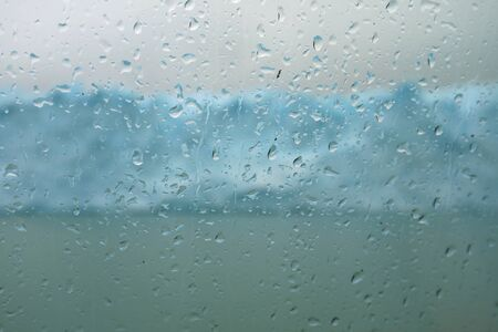 Water Droplets on Cruise Ship Glass Window