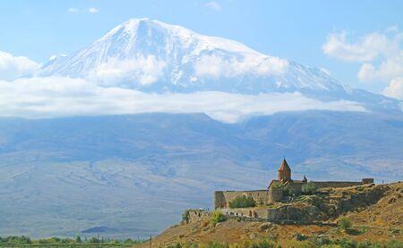 Khor Virap Monastery with Mount Ararat in the Backdrop, One of the Most Visited Site in Armenia