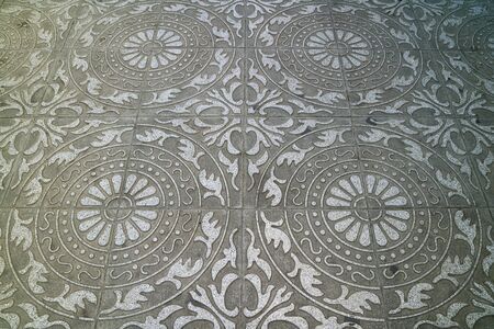 Gorgeous pattern paving stone of the sidewalk in town for background or banner