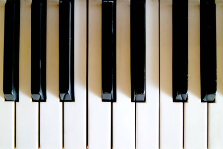 Top View of the Piano's Keyboard for Background or banner