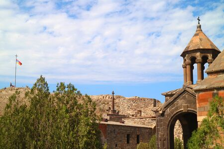 Tower of the Church of Holy Mother of God in Khor Virap Monastery with Its Surroundings, Ararat Province, Armenia Фото со стока
