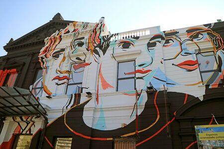 Facade of the Recoleta Cultural Centre or Centro Cultural Recoleta in March 2018, Buenos Aires, Argentina Banque d'images