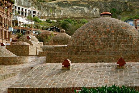 Historic Sulfur Baths in the Abanotubani Neighborhood of Old Tbilisi, Georgia