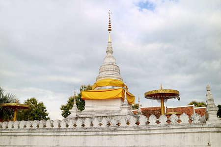The Chedi of Phra That Khao Noi Temple, Where Houses the Relics of Lord Buddha, Nan Province, Northern Thailand