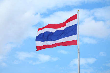 The flag of the Kingdom of Thailand Called THONG TRAI RONG, Meaning