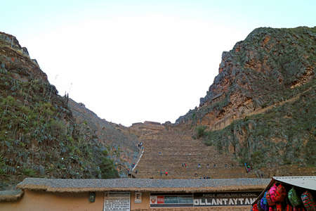 Ollantaytambo, the Last Stronghold of the Incas View from the Town, Urubamba Province, Cusco Region, Peru
