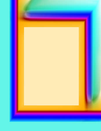 Illustration of Abstract Colorful Vertical Frame Imagens