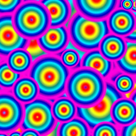 Vivid Multi-color of Seamless Circles Pattern for Abstract Background