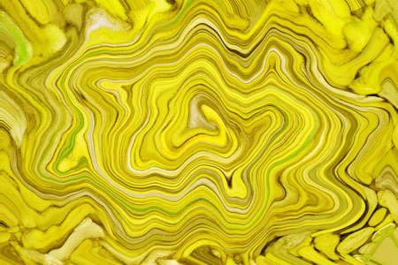 Illustration of precious stone layers in gradient yellow for abstract background