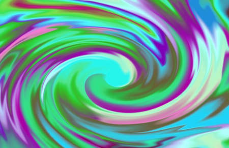 Illustration of purple and green artistic swirl abstract background