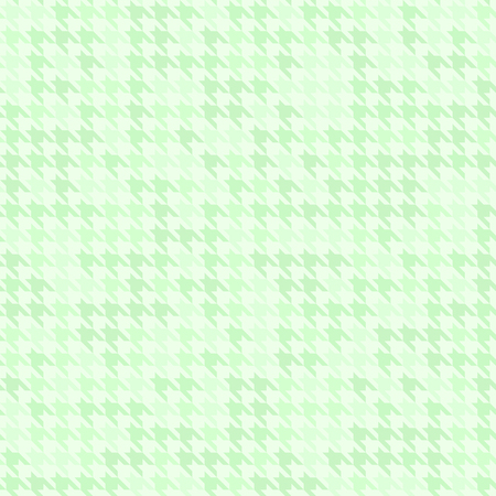 checkerboard backdrop: Green houndstooth pattern. Seamless vector background with colored ornament on light backdrop
