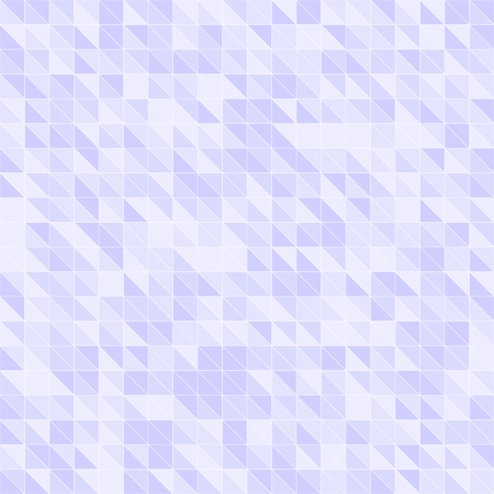 Violet triangle pattern. Seamless vector background with violet right triangles on light lavender backdrop