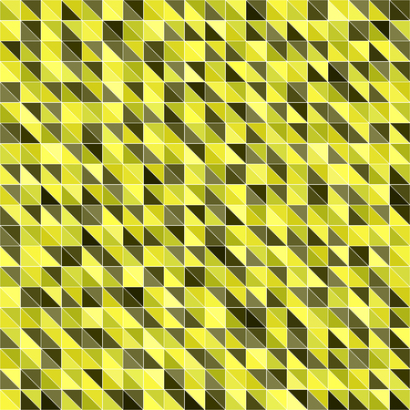 Triangle pattern. Seamless vector background with yellow, olive, yellow-green, khaki triangles on white backdrop Çizim